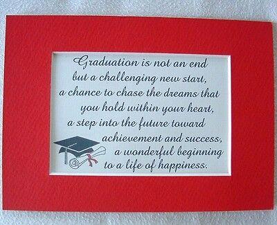GRADUATION Challenge DREAM Success NEW START Achieve FUTURE verses poems plaques