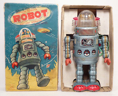 1950s DOOR ROBOT in BOX by ALPS, JAPAN Complete & Working SEE VIDEO Rare!