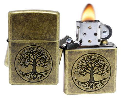 Zippo 29149 Tree of Life Antique Brass Finish Windproof Pocket Lighter New