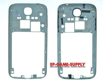 Samsung Galaxy S4 Rear Back Middle Housing Frame Silver Bezel i9500 i337 M919 for sale  Los Angeles