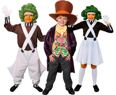 CHILDS CHOCOLATE FACTORY SCHOOL BOOK / FILM DAY CHARACTER BOSS + WORKERS COSTUME (Children's Book Character Costumes)