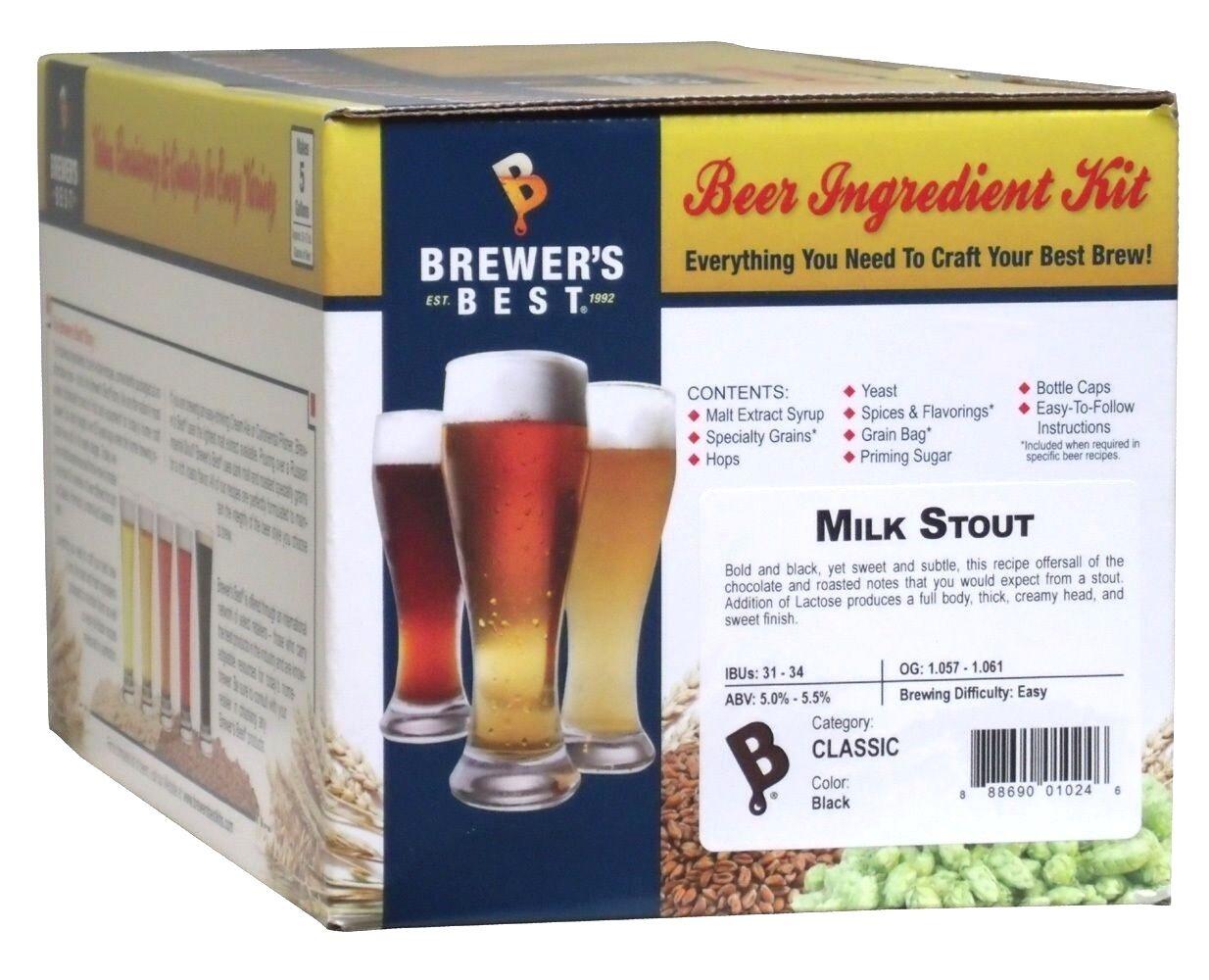 $29.95 - Brewers Best 5 Gallon Beer Making Ingredient Kit - Milk Stout