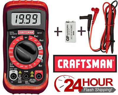 Craftsman Digital Multimeter Current Vol Tester Meter Ohmmeter 34-82141