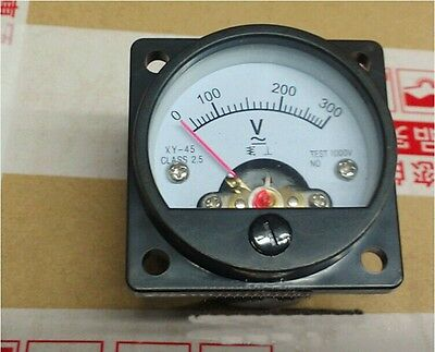 Xyso-45 0-300v Ac Vintage Round Analog Voltmeter Panel Meter 4545mm