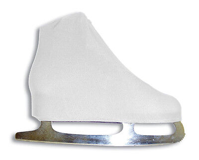 ProGuard Figure Skate Boot Covers - One Size Fits All - White, Black, or Flesh ](White Boot Covers)