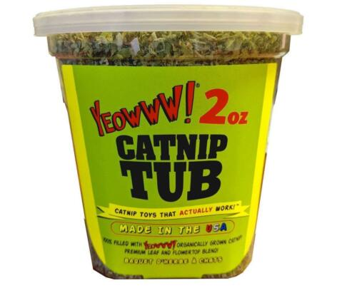 Yeowww! 100% Organic Catnip Tub– 2 oz  Organically Grown  (Free Shipping in USA)