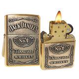 Zippo Lighter 254BJD.428 Jack Daniels Label Emblem High Polish Brass Spirits NEW