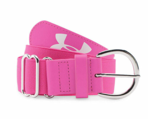 Under Armour Womens Softball Belt Pink Adjustable Size up to 42 Athletic Stretch
