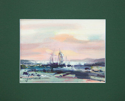 Seascape / Sailing Ship / Original Oil Painting by Sergej Hahonin / 20x15 cm