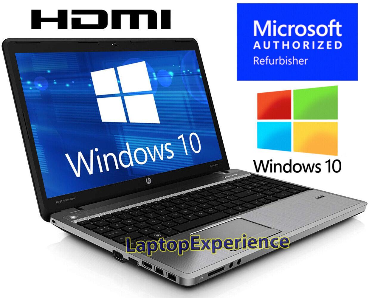 Laptop Windows - HP ProBook LAPTOP COMPUTER DUAL CORE 2.4GHz 4GB 320GB 15.6 Windows 10 KEY WEBCAM