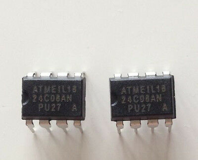 Us Stock 50pcs At24c08a-10pu-2.7 Dip-8 Pu27 24c08 2-wire Serial Eeprom