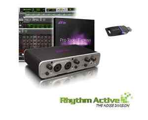 AVID FAST TRACK DUO RECORDING STUDIO AUDIO INTERFACE+PRO TOOLS MUSIC SOFTWARE.