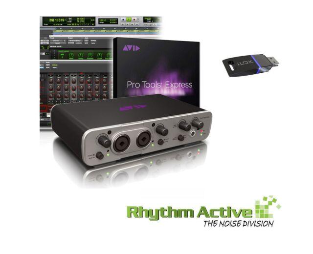 AVID FAST TRACK DUO RECORDING STUDIO AUDIO INTERFACE+PRO TOOLS MUSIC SOFTWARE.