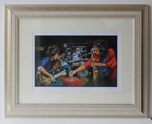 Ronnie Wood print 'Conversation Piece' - Rolling Stones portrait! Unframed