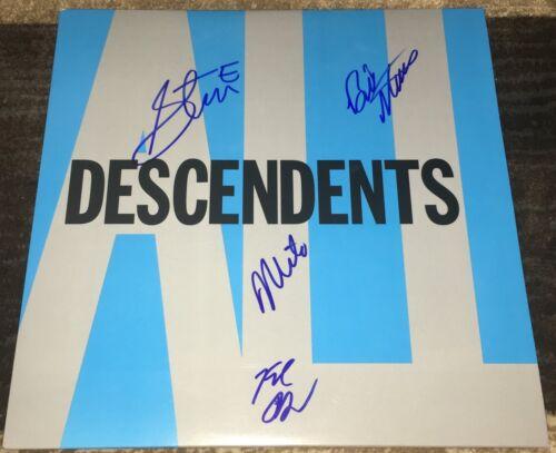 THE DESCENDENTS SIGNED AUTOGRAPH ALL VINYL ALBUM MILO AUKERMAN +3 w/EXACT PROOF