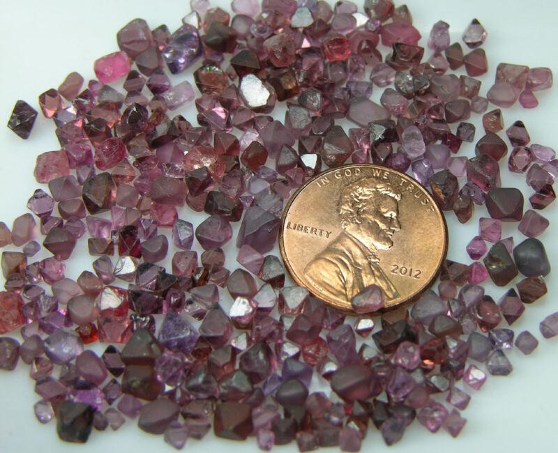 Vietnam 100% Natural 20 Octagonal Transparent Multi-color Spinel Crystals