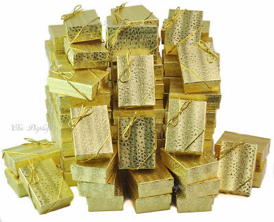 Lot Of 100 Gold Cotton Filled Box Jewelry Gift Boxes Bracelet Box 3 14x2 14