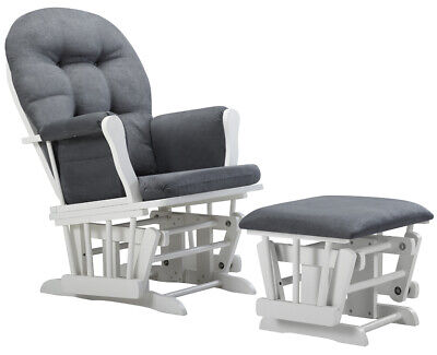 Glider Chair And Ottoman Nursery Rocking Furniture Baby Nursing Rocker Seat Gray