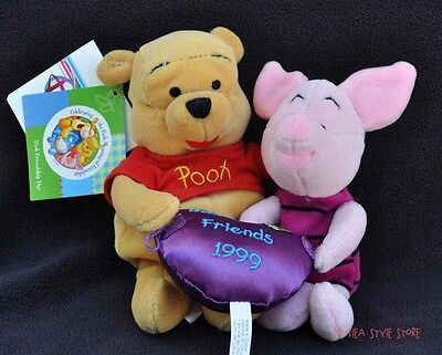 Winnie the Pooh & Piglet Friendship Day Best Friends Mini Bean Bag Disney (The Best Bean Bag)