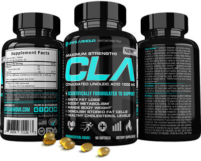 CLA Softgel by Life's Armour Best High Potency CLA Supplement for Weight (Best Cla For Weight Loss)