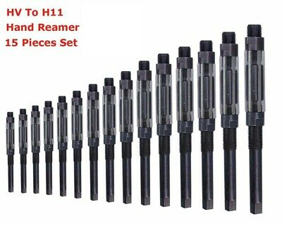 15 Pcs Set Adjustable Hand Reamer Size Hv To H11 14 Inch To 1.116 Inch