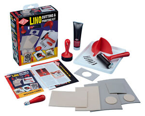 Essdee Lino Cutting and Printing Kit 23 Pcs w/ Tools, Stamps, Ink