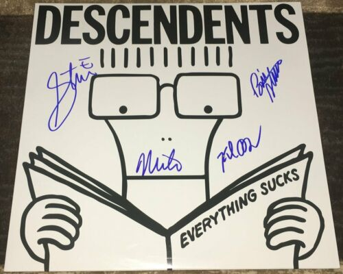 THE DESCENDENTS BAND SIGNED AUTOGRAPH EVERYTHING SUCKS VINYL ALBUM w/EXACT PROOF