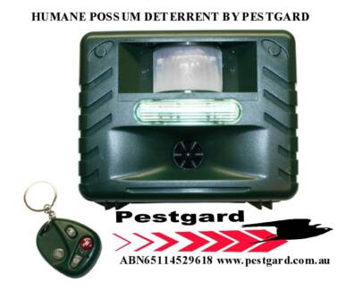 Possum Scarer with Strobe & Remote control operates on AC or Dc