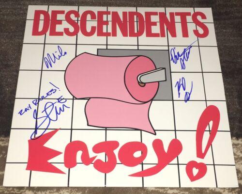 THE DESCENDENTS BAND MILO AUKERMAN +3 SIGNED AUTOGRAPH ENJOY ALBUM w/EXACT PROOF