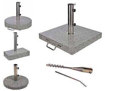 Sonnenschirmständer #verschiedene Größen + Designs# Granit Schirmständer Rollen