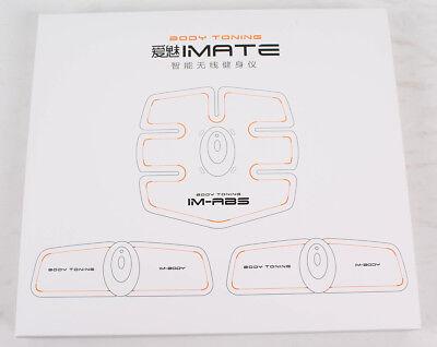 IMATE Professionelle EMS Bauchmuskel Gürtel Fitnesstraining Gerät Vibration Pad