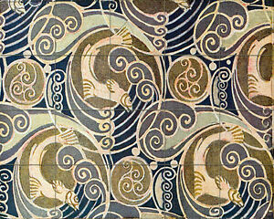 Ceramic mural backsplash bath art nouveau tile 522 for Artwork on tile ceramic mural