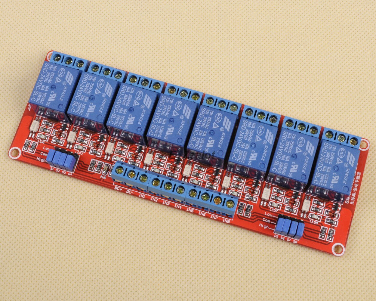 For arduino v channel relay module with optocoupler h