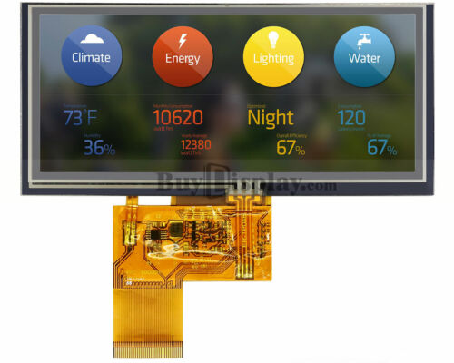 """4.6"""" inch Touch Screen Bar Type TFT LCD Display 800x320 for IoT w/Touch Panel"""