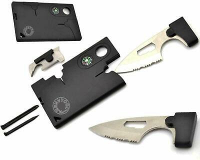 Men Knife Set Credit Card Tool Set Pocket Best Tactical Wallet Survival Compact