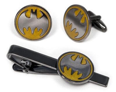 Batman Cufflinks Justice League Tie Clip Superhero Wedding Groomsman Cuff Links (Superhero Wedding)