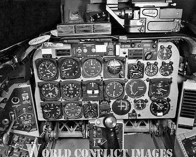 USAAF North American F-100D Jet Fighter Cockpit 8x10 Photo New Release!