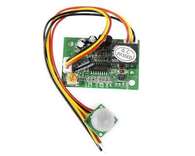 1x 12v Pir Ir Pyroelectric Infrared Module Adjustable Relay Output Sensor