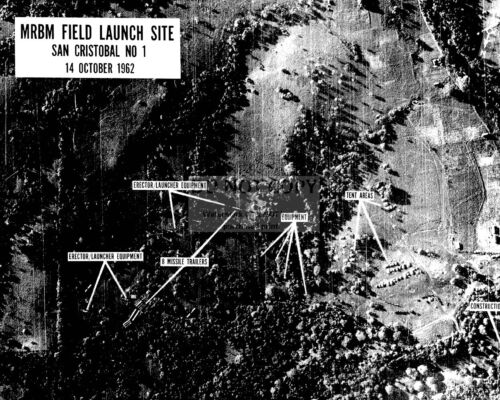 IMAGE SHOWING MISSILE BASES CUBAN MISSILE CRISIS KENNEDY JFK 8X10 PHOTO (OP-532)