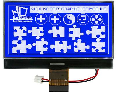 Serial 3v 3.3 Blue 240x128 Graphic Lcd Module Cog Display Wuc1608tutorial