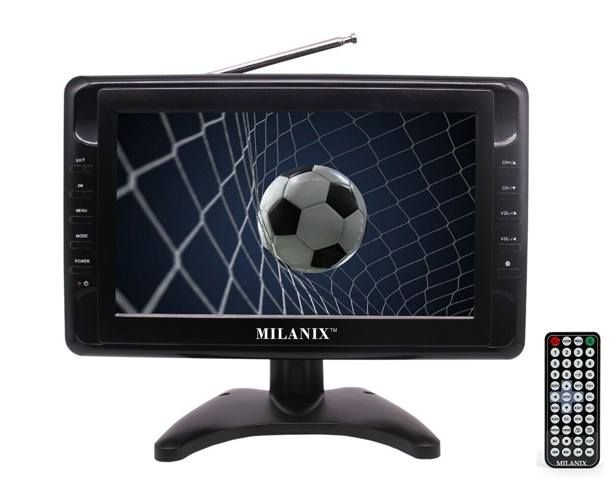 """Milanix MX10 10"""" Portable Widescreen LCD TV with Detachable"""