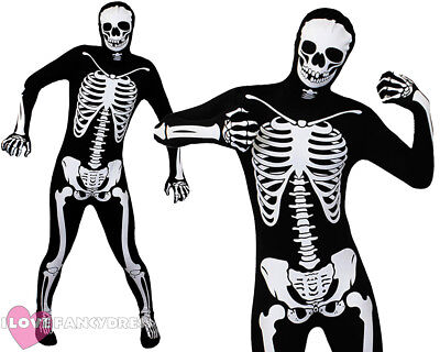 ADULT SKELETON SKIN SUIT HALLOWEEN FANCY DRESS COSTUME MEN'S DAY OF THE DEAD  ()