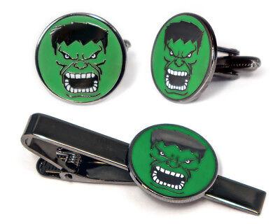 The Avengers Cufflinks, Hulk Tie Clip, Groomsman Groomsmen Marvel Wedding Gifts