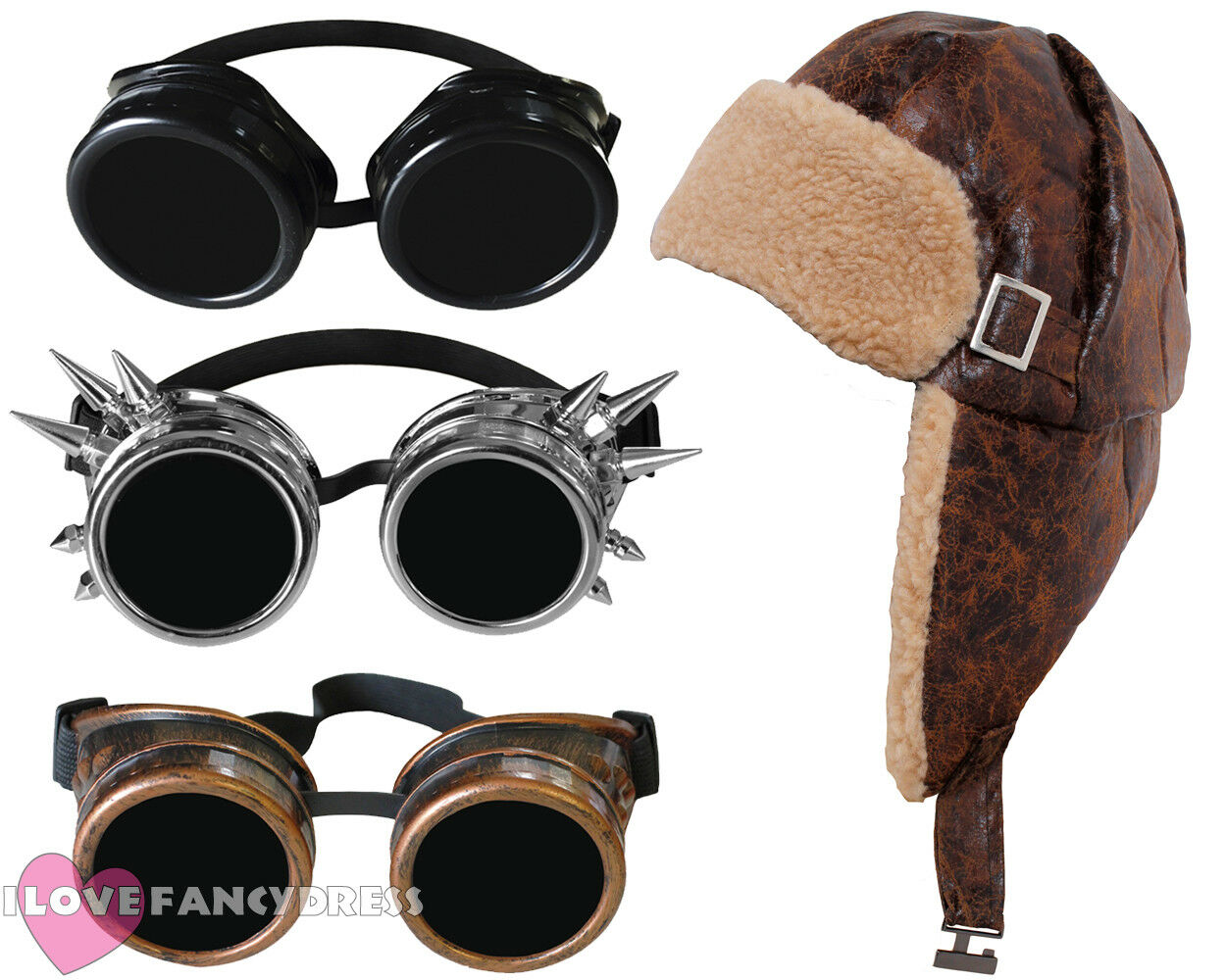 escaping grandad fancy dress aviator flying hat and goggles world