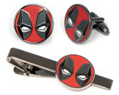 Deadpool Tie Clip Tack,  X-Men Cufflinks Marvel Comics Superhero Wedding Jewelry (Superhero Wedding)