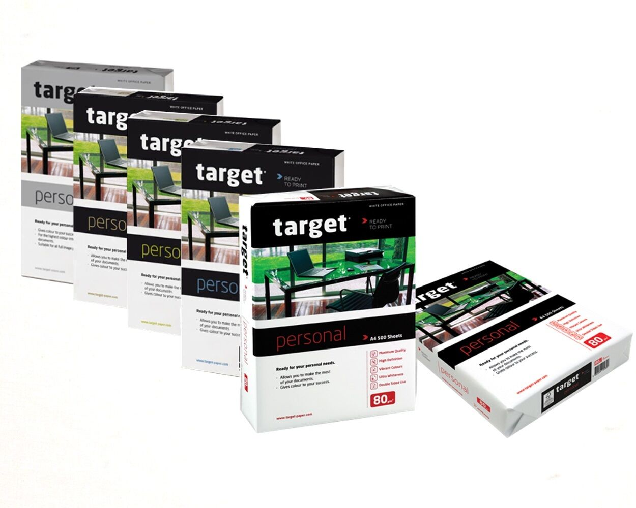 Target Personal Kopierpapier 80 90 100 110 160g/m² DIN-A4 A3 Druckerpapier weiß
