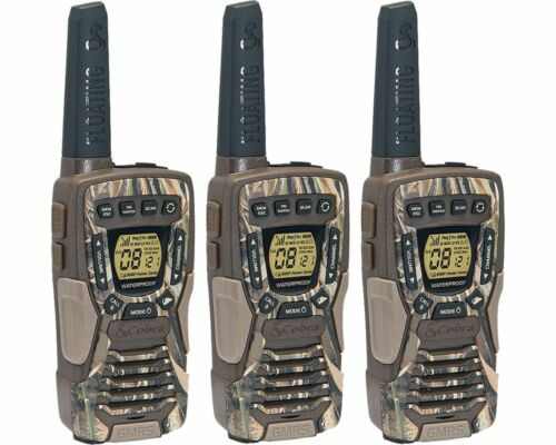 Cobra 37-Mile Waterproof Rechargeable Camo Two-Way Radio Walkie Talkie - 3 Pack