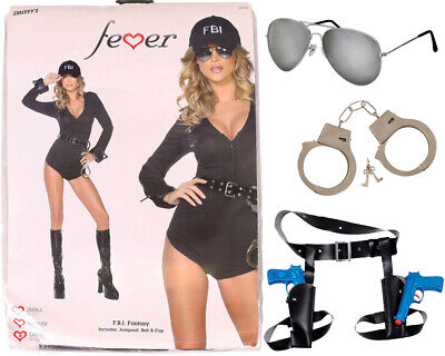 SMIFFYS FBI FANTASY COSTUME WOMENS SEXY POLICE COP OUTFIT HEN PARTY FANCY DRESS
