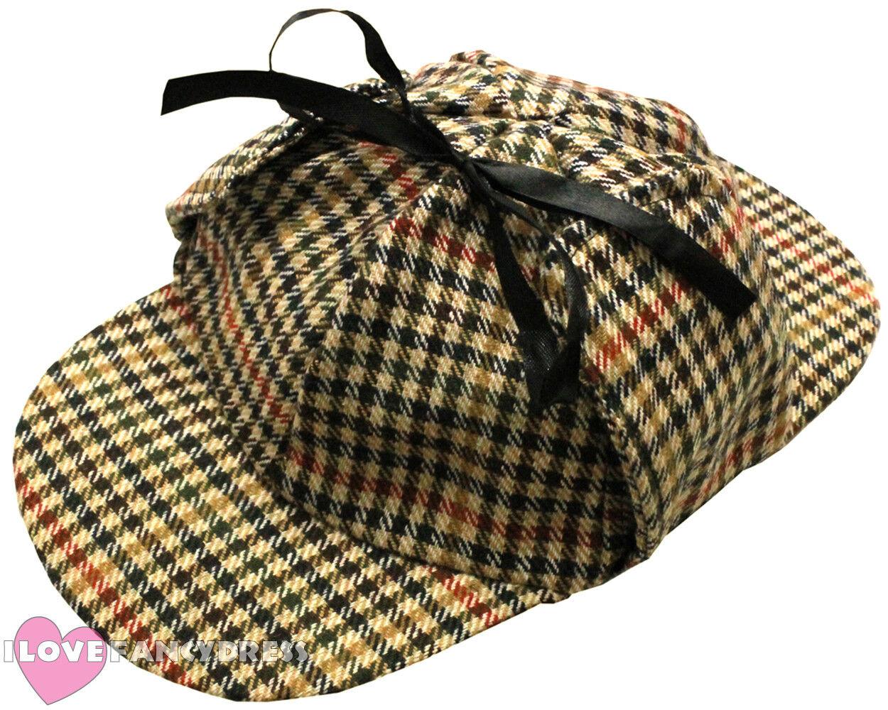 Sherlock Holmes Fancy Dress Detective Kit Adults Detectives Pipe Hat Glass