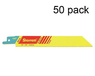 Ls Starrett Reciprocating Sawzall Saw Blades 6 X 18 Tooth Tpi B618-50 50 Pack